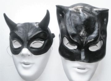 HIS & HERS BAT AND DEMON LATEX HALLOWEEN MASKS